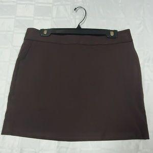 LOFT Brown ponte Skirt - size 8